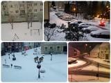 Sprawdziły się prognozy synoptyków, w Lubuskiem sypnęło śniegiem. Na drogach ślisko i niebezpiecznie [ZDJĘCIA CZYTELNIKÓW]