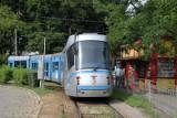 Wrocław: Wykolejenie tramwaju na pętli Sępolno