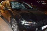 Potrącenie pieszego w Dzibicach. 46-latek trafił do szpitala ZDJĘCIA