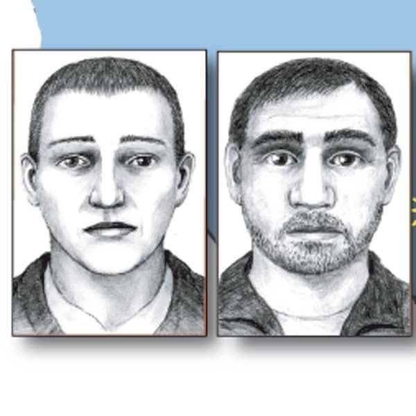 Prezentujemy portrety pamięciowe sprawców napadu na kantor w Myślenicach.