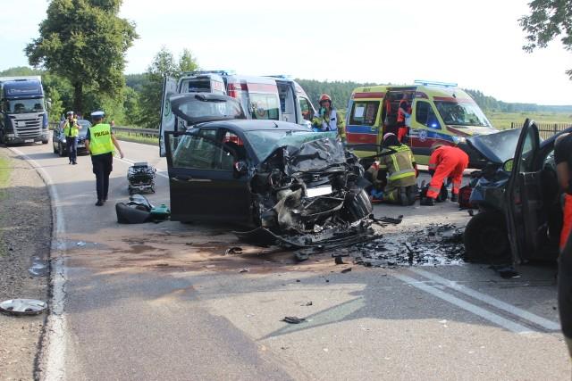 Wypadek w miejscowości Ploski na DK 19 (powiat bielski)