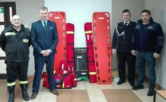 Ochotnicze Straże Pożarne w Uhowie, Płonce Kościelnej i Łupiance Starej dostały nowy sprzęt do ratowania ofiar wypadków