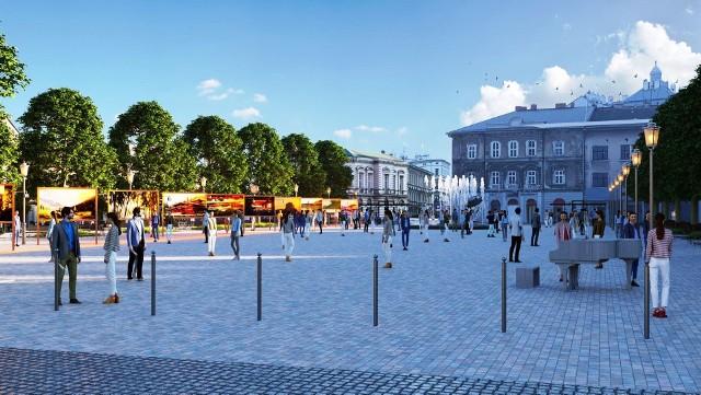 Wizualizacje placu Wojska Polskiego w Bielsku-Białej po planowanej przebudowie