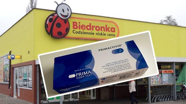 Biedronka wprowadza - jako pierwsza sieć w Polsce - test na koronawirusa. Będzie w sprzedaży od 15 marca br.