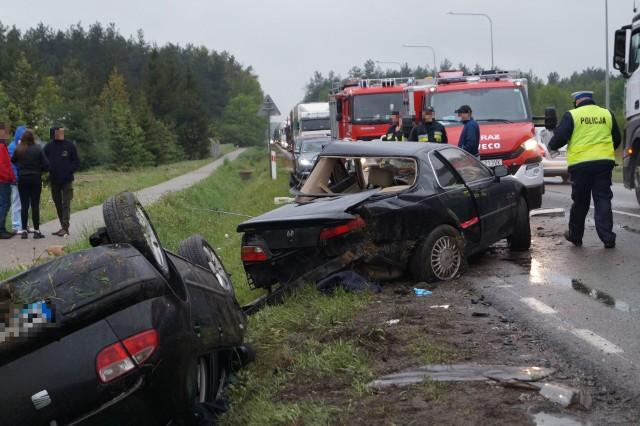 Różan: Wypadek na DK60