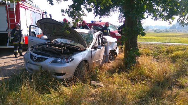 15-latek najprawdopodobniej w chwili wypadku nie miał zapiętych pasów.
