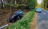 Dachowanie samochodu koło Jasienia w gminie Parchowo! 28.09.2021 r. Kierowca uciekł z miejsca wypadku. Był pijany i pod wpływem narkotyków