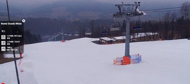 Na stokach pustki, choć warunki jeszcze całkiem nieźle, to pogoda pokrzyżowała narciarzom szyki