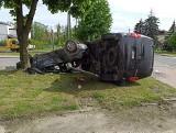 Groźny wypadek w Rzgowie. Auta przewrócone. Cudem nikt nie został ranny! ZDJĘCIA