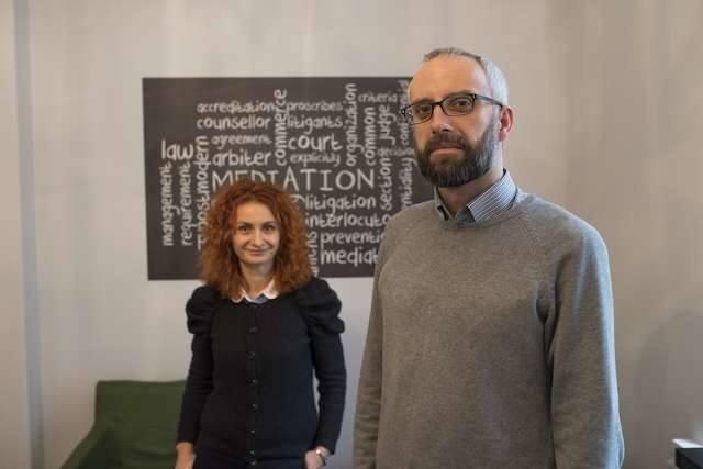 Mediatorzy Monika i Janusz Kaźmierczakowie z Fundacji Pracownia Dialogu w Toruniu.