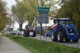 Protest Agrounii koło Zduńskiej Woli. Rolnicy wyjechali na drogę traktorami ZDJĘCIA