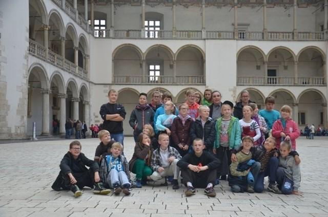 Głównym punktem wycieczki było zwiedzanie Wawelu