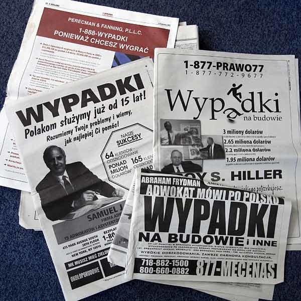 Polskie dzienniki pełne są ogłoszeń o możliwości uzyskania bajońskich odszkodowań za wypadki przy pracy.