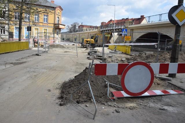 Prace na skrzyżowaniu Garbary ze Spichrzowej i Składową są częścią inwestycji PWiK.