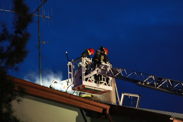 Pożar przy ulicy Dąbrowskiej w SłupskuPożar przy ulicy Dąbrowskiej w Słupsku