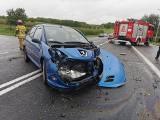 Wypadek w Nowosielcach w powiecie przeworskim. Ranne zostały dwie osoby [ZDJĘCIA]