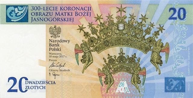 Banknot kolekcjonerski na 300-lecie koronacji obrazu NMP (Materiał NBP)