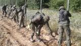 Polscy żołnierze budują ogrodzenie na granicy z Białorusią. W Usnarzu Górnym powstało miasteczko namiotowe (zdjęcia)