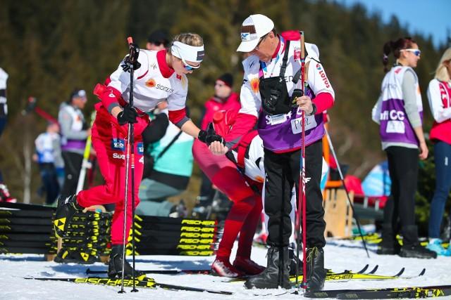 Izabela Marcisz od kilku lat jest pod opieką trenera Aleksandra Wierietielnego. Zdjęcie z ub. roku z mistrzostw świata seniorów w Seefeld.