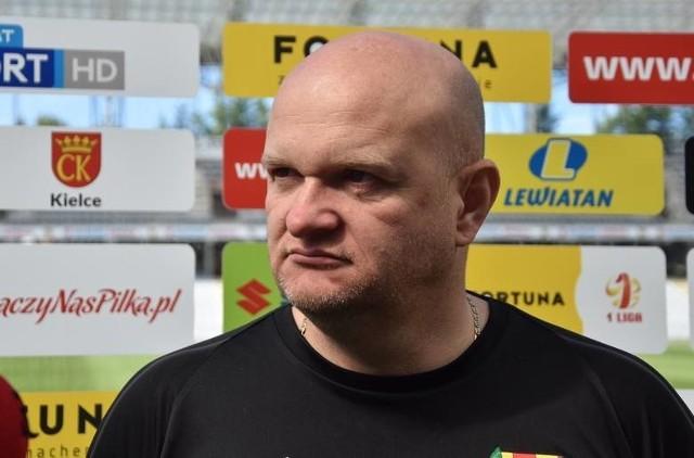 Nie tak Maciej Bartoszek wyobrażał sobie przebieg meczu z Widzewem Łódź.