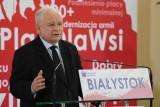 Jarosław Kaczyński w Białymstoku. Prezes PiS przyjechał na regionalną konwencję partii [ZDJĘCIA]