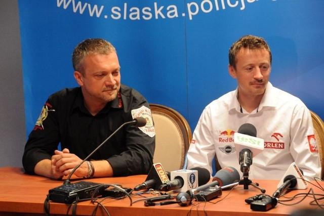 """Akcję """"Bezpieczny na drodze"""" promują Adam Małysz i Sebastian Wątroba"""