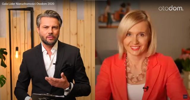Gala rozdania nagród w konkursie Lider Nieruchomości Otodom 2020 była prowadzona przez Monikę Rudnicką z Otodom oraz znanego prezentera telewizyjnego Oliviera Janiaka