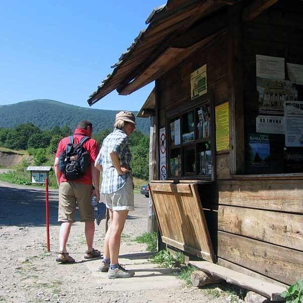 Punkt sprzedaży biletów na Przełęczy Wyżniańskiej. W zeszłym roku można było w nim kupić wodę, w tym - już nie.