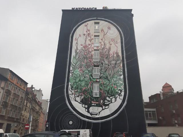 Ogromny mural przy ulicy Młyńskiej