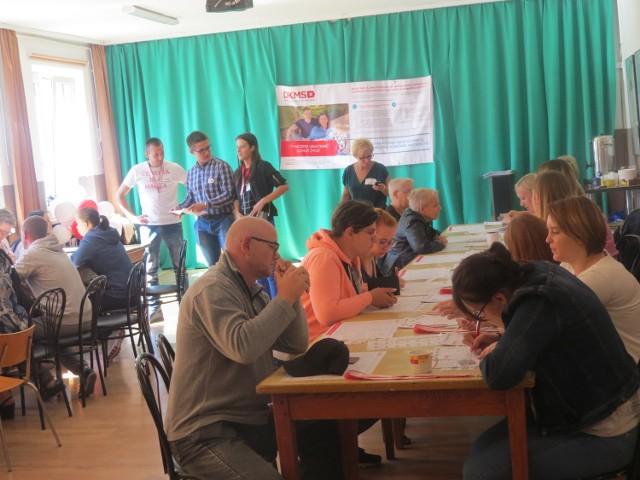 W Miejskim Centrum Kultury akcja trwała od godz. 10 do 16. O godz. 12.30  zarejestrowanych było tu 102 potencjalnych dawców