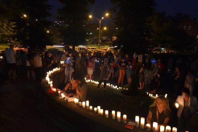Protest przeciw reformie sądownictwa, Sosnowiec, 20 lipca