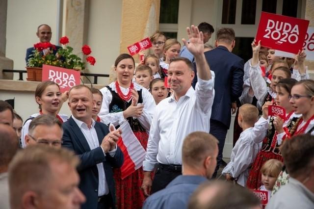 Zdjęcia z 9 lipca, kiedy Andrzej Duda odwiedził Lipnicę Wielką