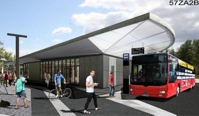 Wizualizacja nowego dworca autobusowego na os. Wieczorka w Piekarach Śląskich
