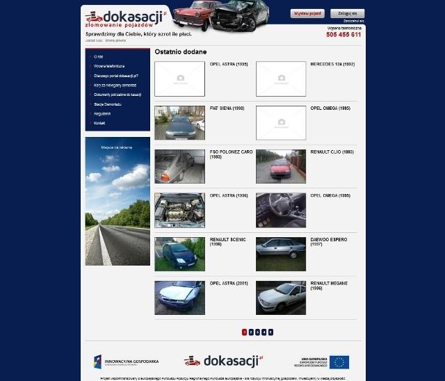 Nasze Dobre Świętokrzyskie 2013. Portal Dokasacji.pl firmy TiK z KielcZa pośrednictwem portalu www.dokasacji.pl można szybko i wygodnie zezłomować samochód i najwięcej na tym zarobić.