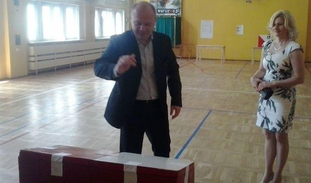 Swój ogład w eurowyborach oddał Piotr Krzystek, prezydent Szczecina.