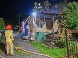 Tragiczny pożar koło Szydłowca. Strażacy znaleźli zwęglone ciało 47-letniego mężczyzny