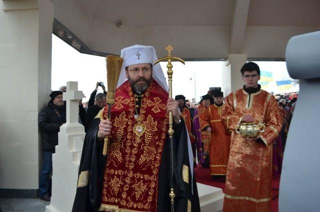 Abp Światosław przewodniczył nabożeństwu przy grobie ks.Mychajła Werbyckiego w Młynach