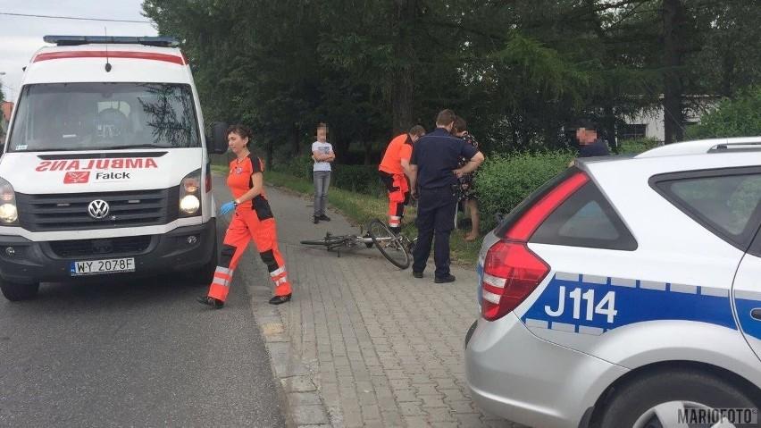 Wypadek na ul. Namysłowskiej w Wołczynie.