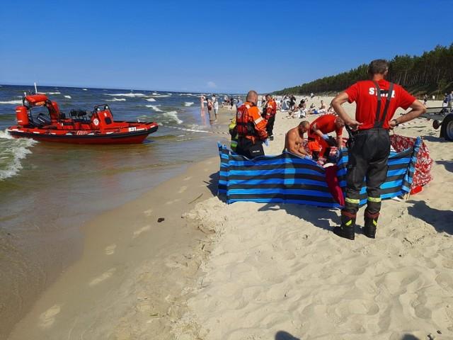 Tragedia na plaży w Stegnie w czwartek, 10.06.2021 r.! 22-latek utonął w morzu