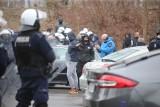 Kibice kontra policja w Sosnowcu. Mandaty i zatrzymania. Co się działo przed Stadionem Ludowym