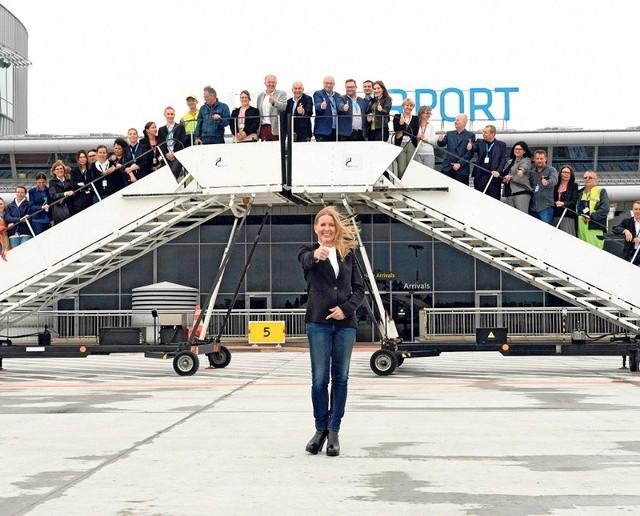 Prezes Portu Lotniczego w Łodzi dr Anna Midera zachęca mieszkańców regionu, by z Łodzi przez Monachium ruszali w świat, oszczędzając czas i pieniądze