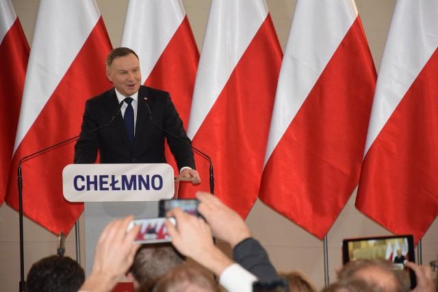 Andrzej Duda w pierwszej turze wyborów prezydenckich uzyskał największe poparcie we wszystkich gminach powiatu chełmińskiego (poza miastem Chełmnem)
