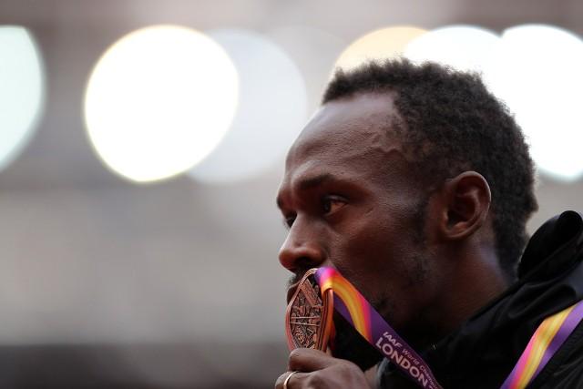 Usain Bolt, Justin Gatlin i Christian Coleman, Londyn 2017