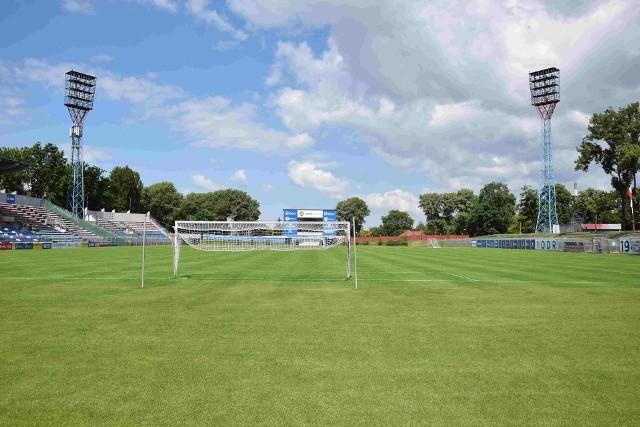 Stadion Odry w przededniu restartu 1 ligi w Opolu.