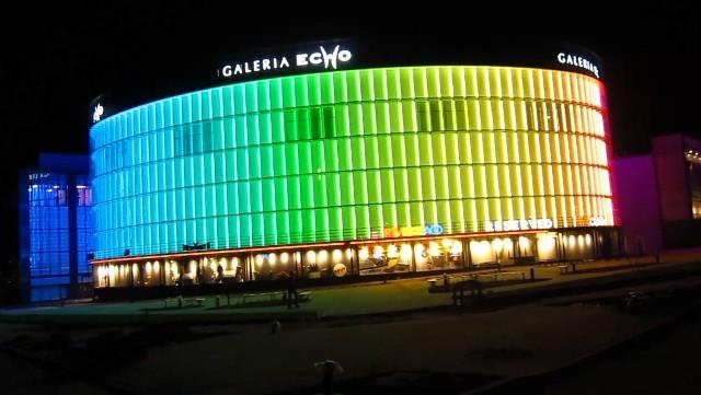 W środę w nocy odbyła się próba iluminacji Galerii Echo.