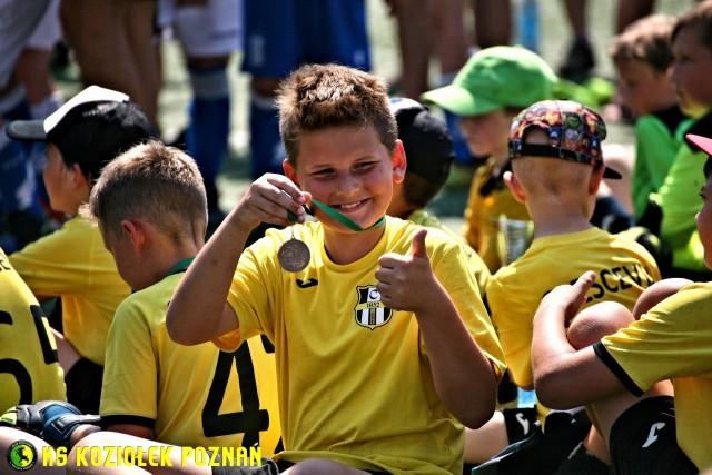 Młodzi piłkarze na podsumowaniu wiosennej edycji Maraton Ligi Mistrzów Koziołka