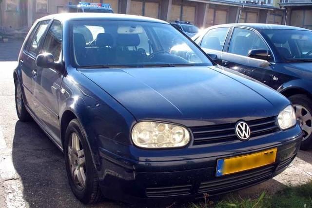 Volkswagen golf jest prawdopodobnie kradziony
