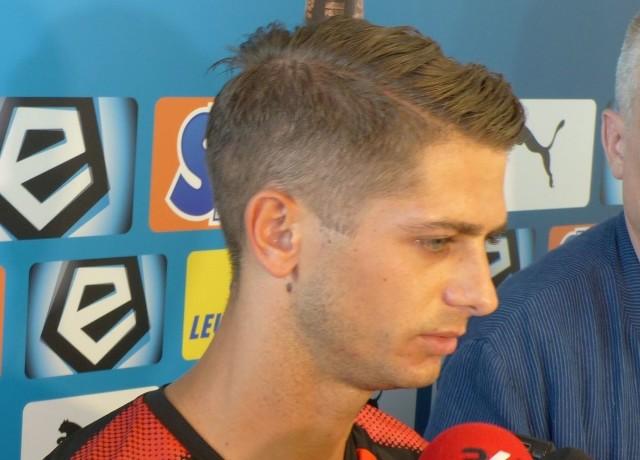 Maciej Górski chciałby dostać szansę gry w poniedziałkowym meczu w Gdańsku.