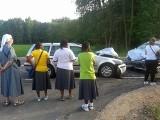 Skiwy: Wypadek na trasie Siemiatycze - Ciechanowiec. Sześć osób rannych w zderzeniu trzech samochodów (zdjęcia, wideo)