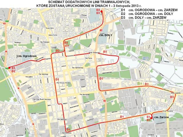 Kliknij dalej i zobacz rozkład jazdy dodatkowych tramwajów na Wszystkich Świętych